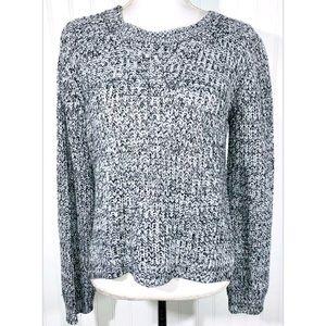 Ambiance Size Large L Sweater Black White Knit